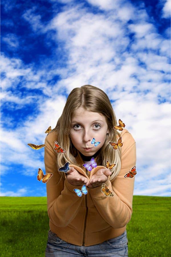 Download Menina com borboletas imagem de stock. Imagem de conceito - 10059301