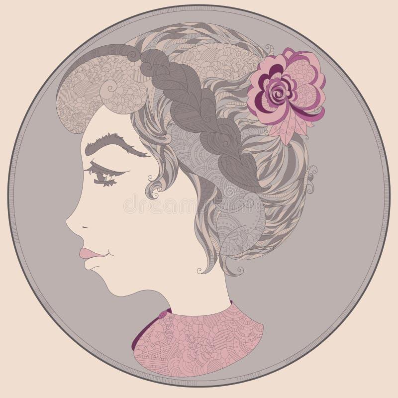 Menina com cabelo bonito fotos de stock royalty free