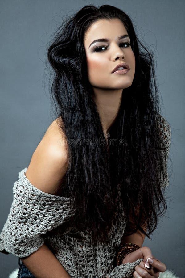 Menina com cabelo lindo foto de stock