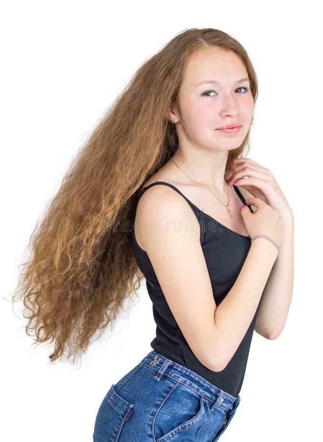 Menina com cabelo magnífico foto de stock royalty free