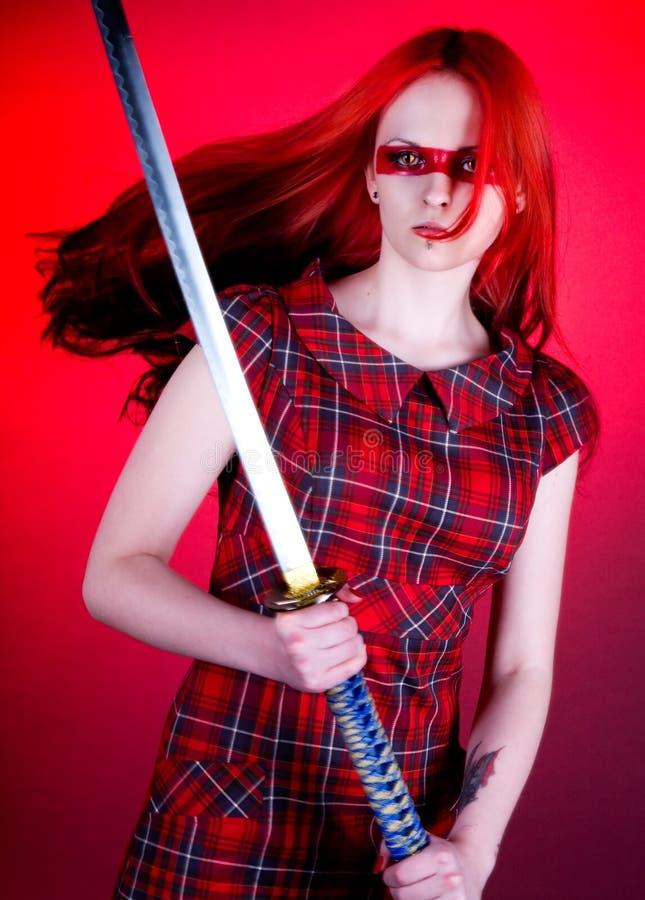 Menina Com Cabelo Vermelho Fotos de Stock