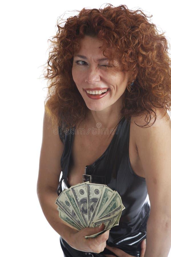 A menina com cabelo vermelho fotografia de stock royalty free