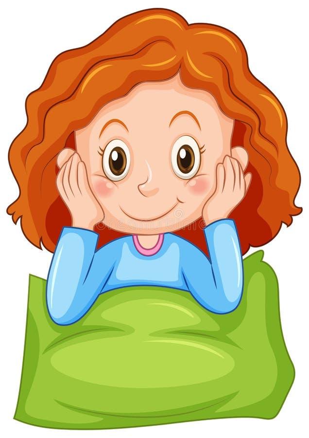 Menina com cara feliz ilustração royalty free