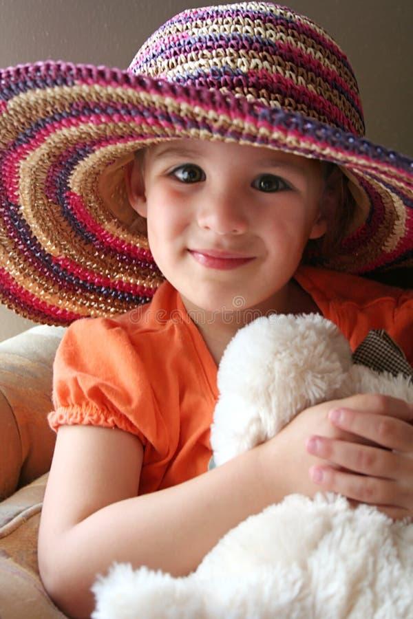 Menina com chapéu fotos de stock