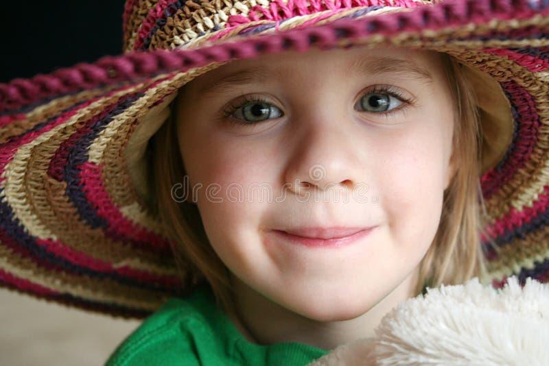 Menina com chapéu imagens de stock royalty free