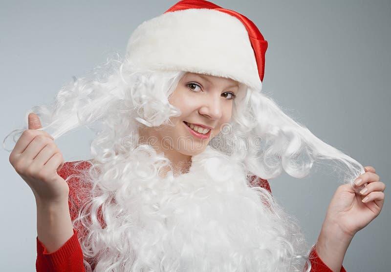menina com chapéu de Santa fotos de stock royalty free