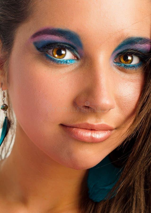 Menina com composição bonita fotos de stock royalty free