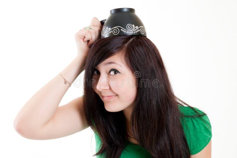Menina com copo fotos de stock royalty free
