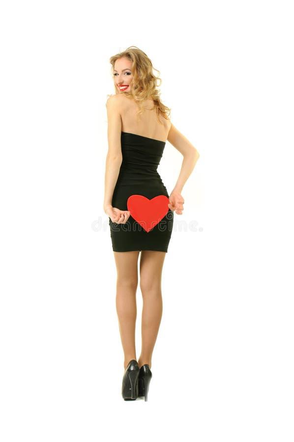 Menina com coração imagem de stock royalty free