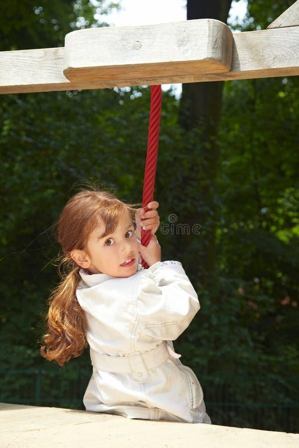Menina com corda imagem de stock royalty free