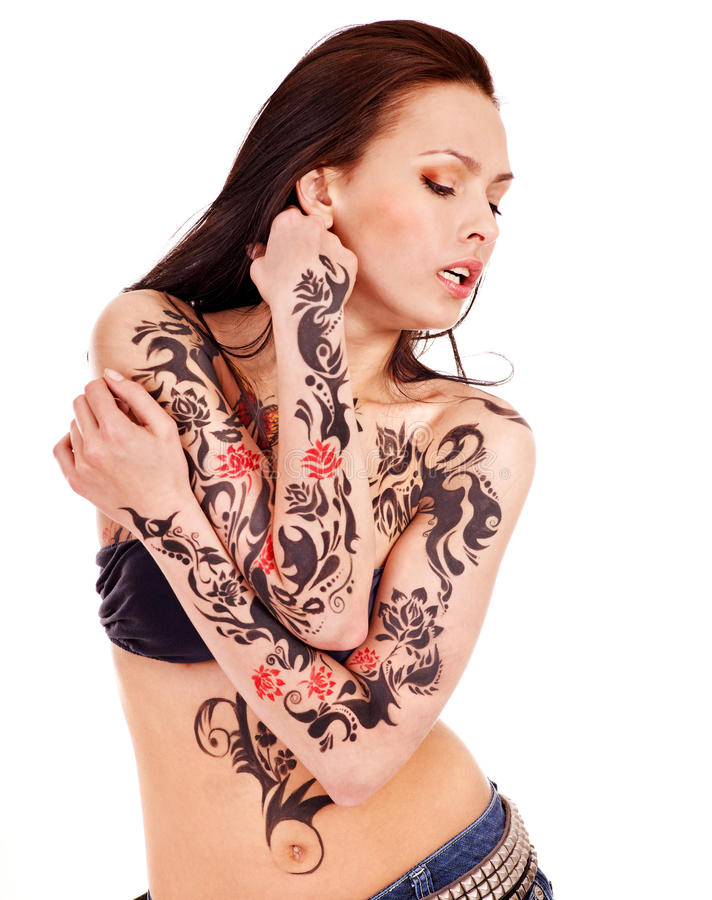 Menina com corpo art. imagem de stock royalty free