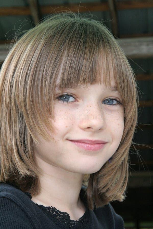 Menina com Freckles imagens de stock