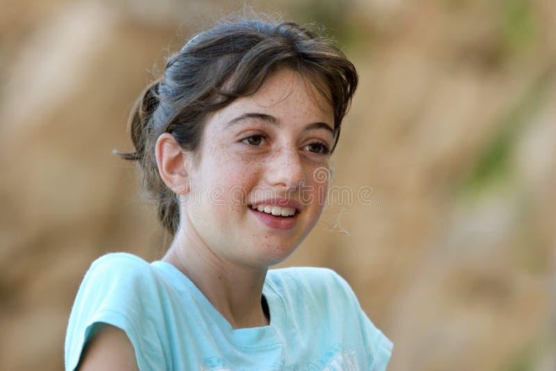 Menina com freckles fotos de stock