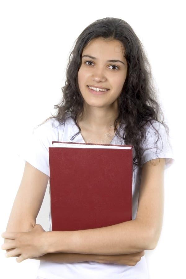 Menina com livro fotografia de stock