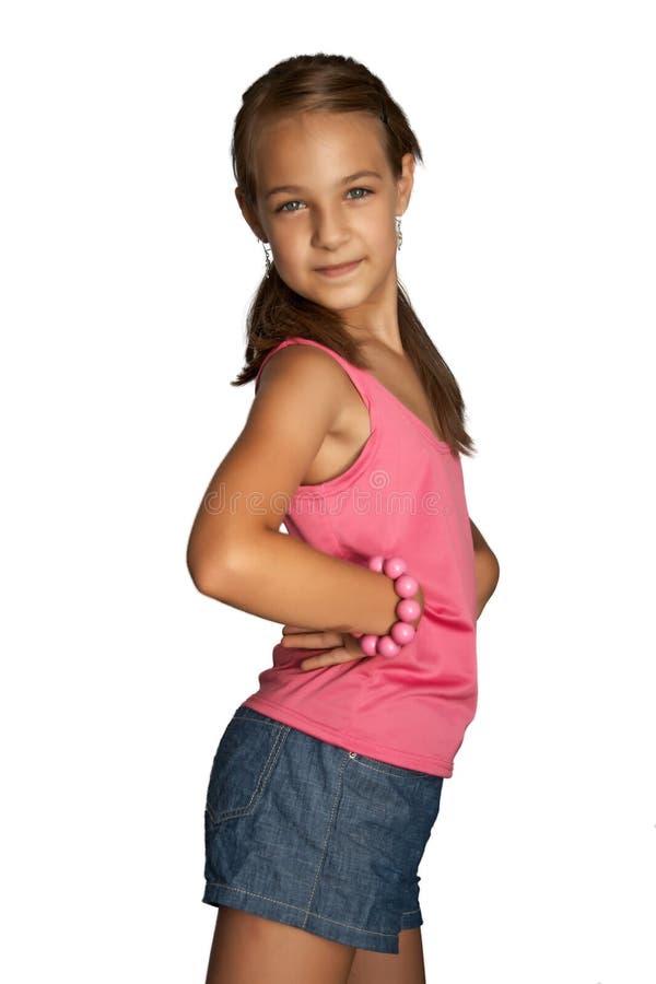 Menina com o bracelete fotografia de stock royalty free