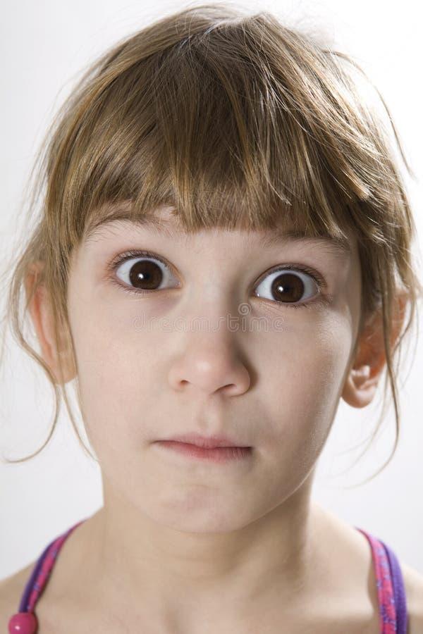 menina com olhos marrons imagem de stock