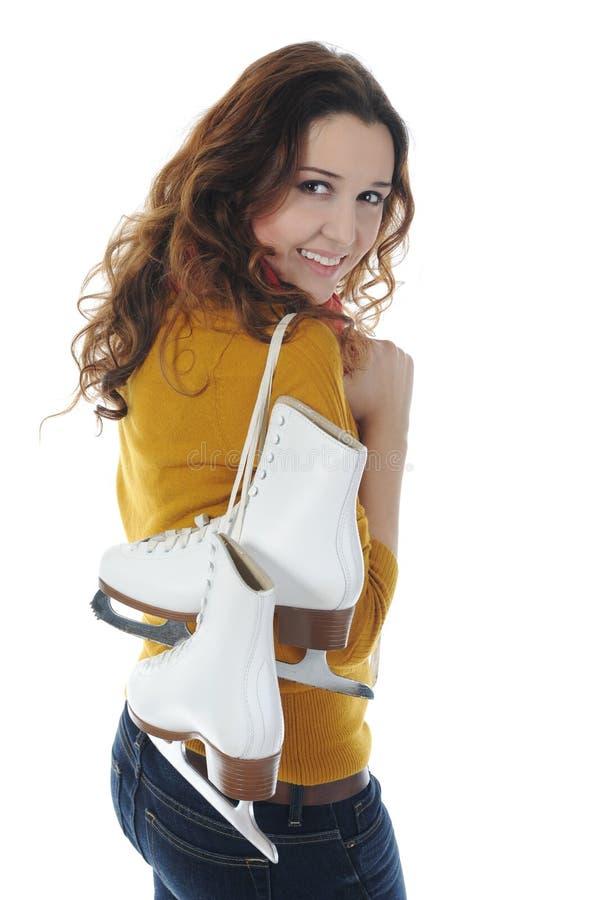 Download Menina com patins imagem de stock. Imagem de cheerful - 16862759