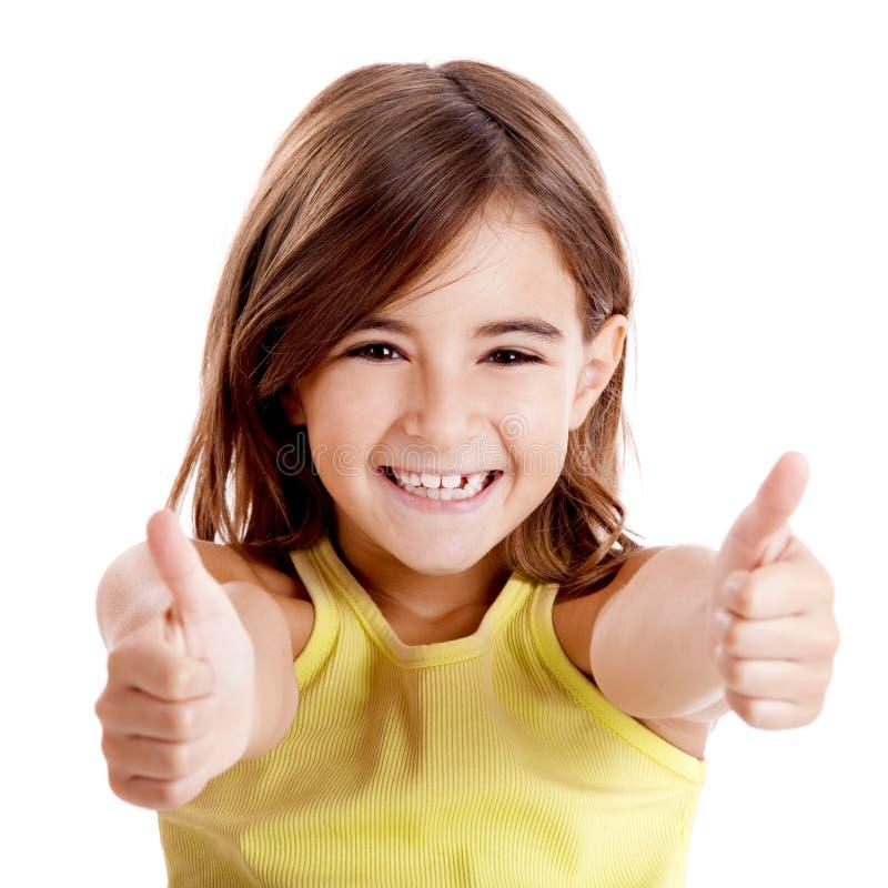 Download Menina com polegares acima imagem de stock. Imagem de aprovaçã0 - 16872931