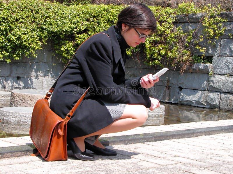 Download Menina com telefone foto de stock. Imagem de comunique - 111712