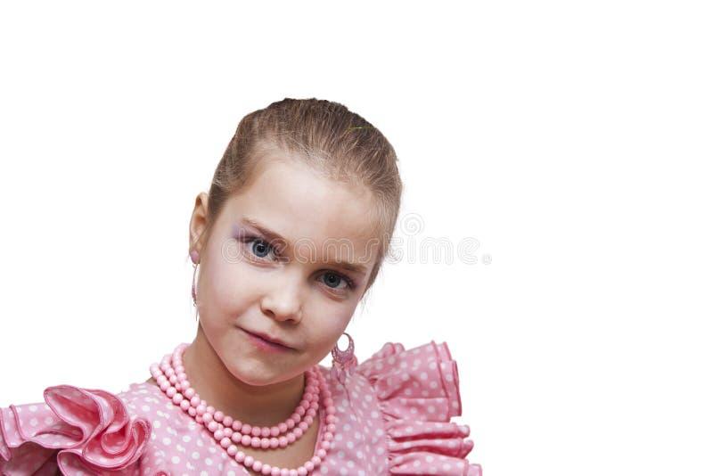 Menina com traje imagens de stock