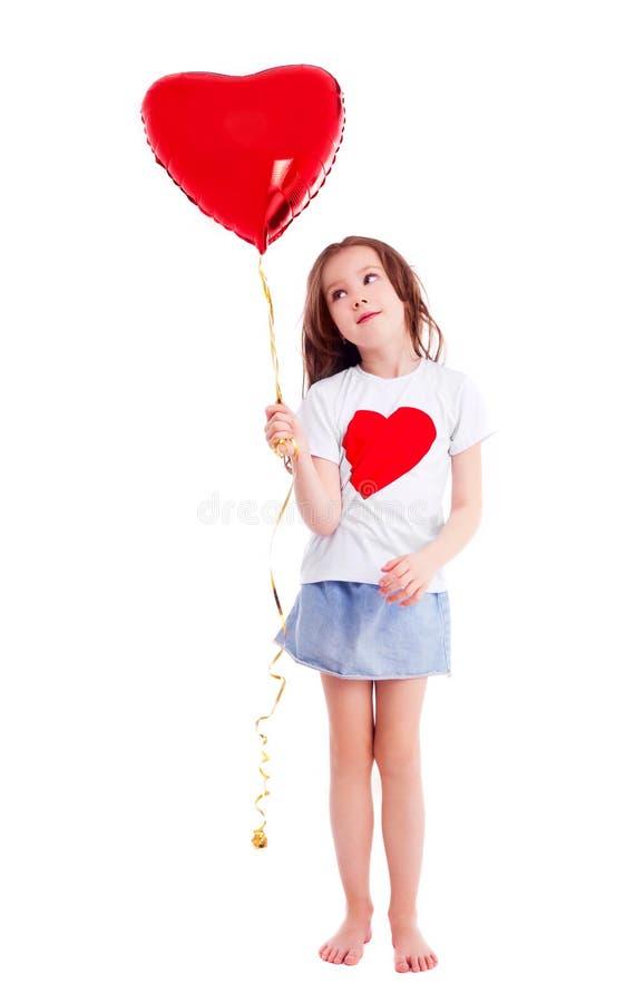 Menina com um balão imagens de stock royalty free