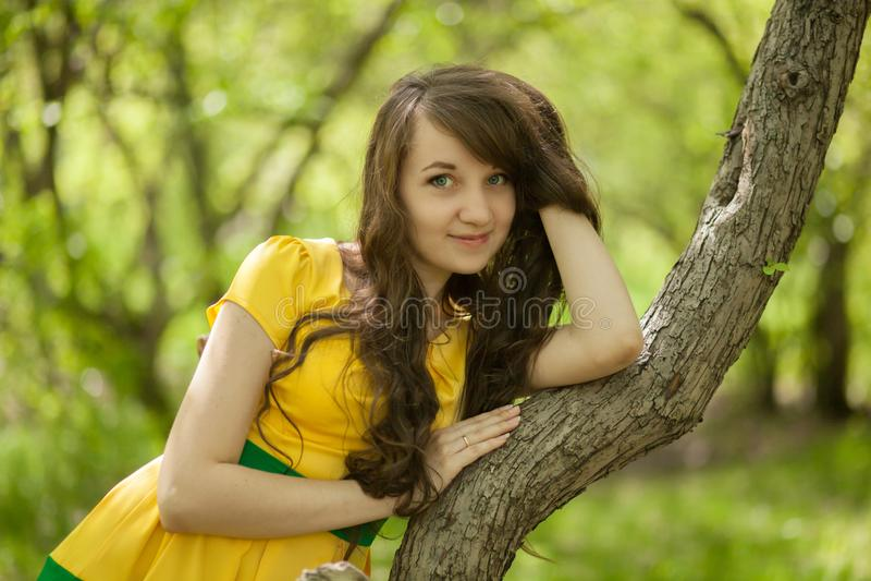 menina com um cabelo sedutor Cabelo saudável fotografia de stock royalty free