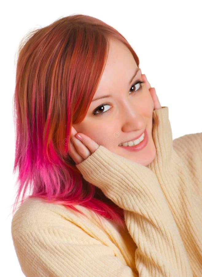 Menina com um cabelo vermelho foto de stock royalty free