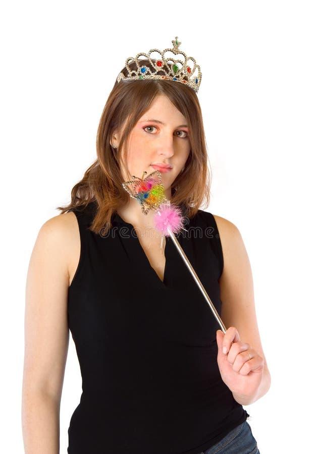 Menina com varinha mágica imagens de stock royalty free