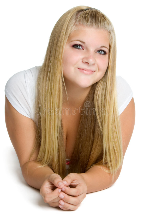 Menina consideravelmente adolescente fotografia de stock royalty free