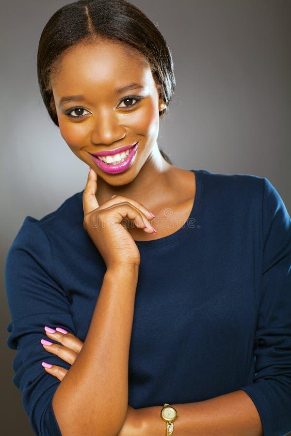 Preto africano da menina fotografia de stock royalty free