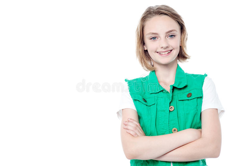 Menina consideravelmente bonito elegante imagem de stock royalty free