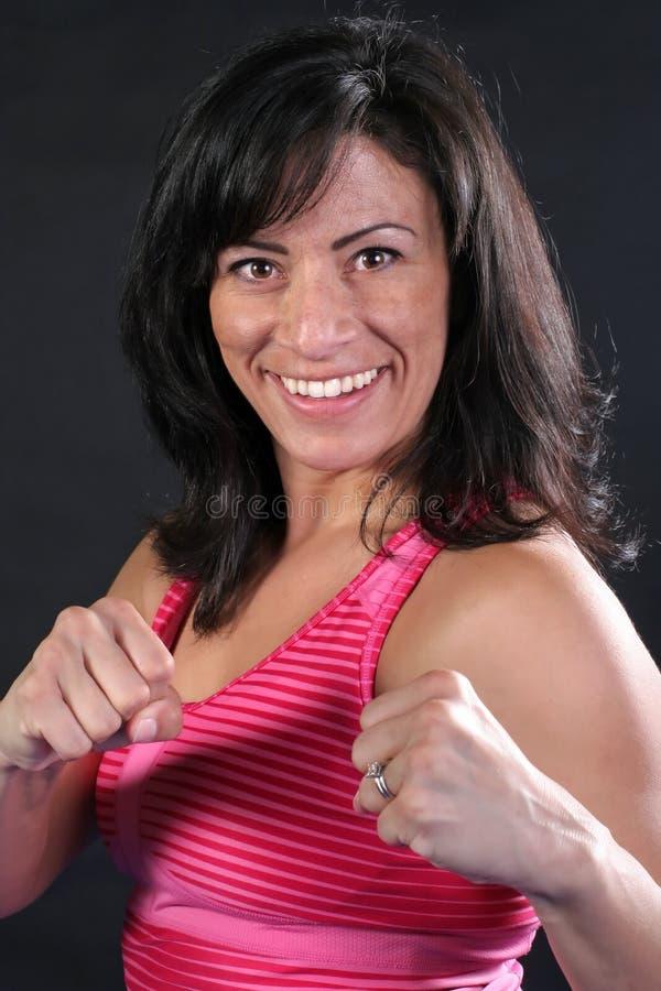 Menina consideravelmente cor-de-rosa do lutador imagem de stock royalty free