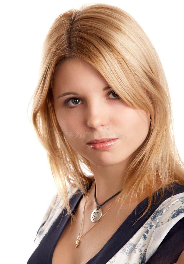 Download Menina Consideravelmente Loura Imagem de Stock - Imagem de olhar, haired: 12800323