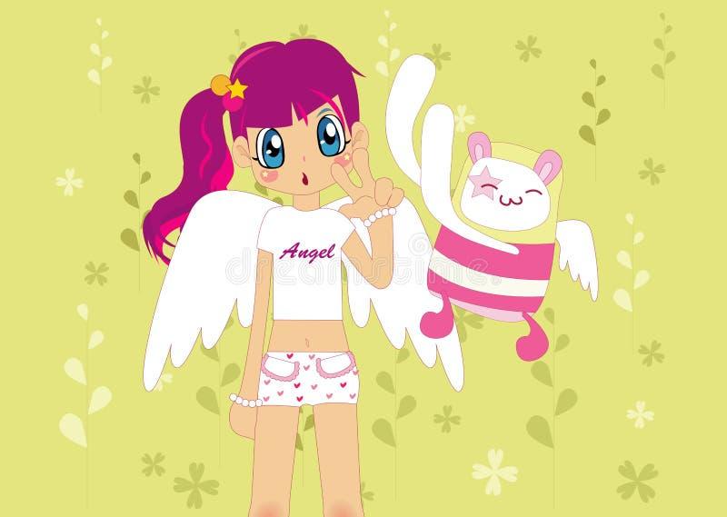 Menina cor-de-rosa ilustração stock