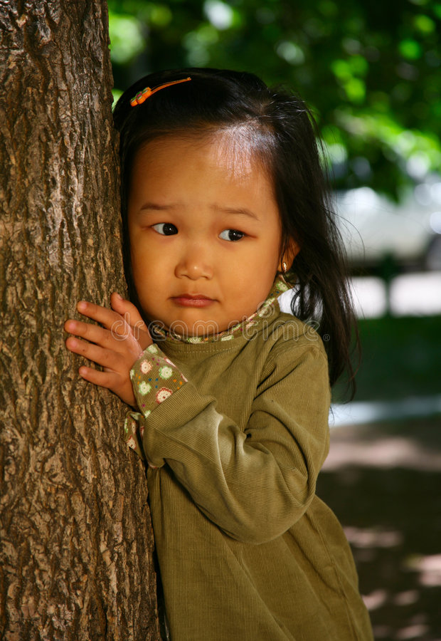 Menina coreana bonita foto de stock