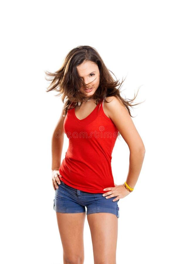Menina crioula do adolescente imagens de stock royalty free