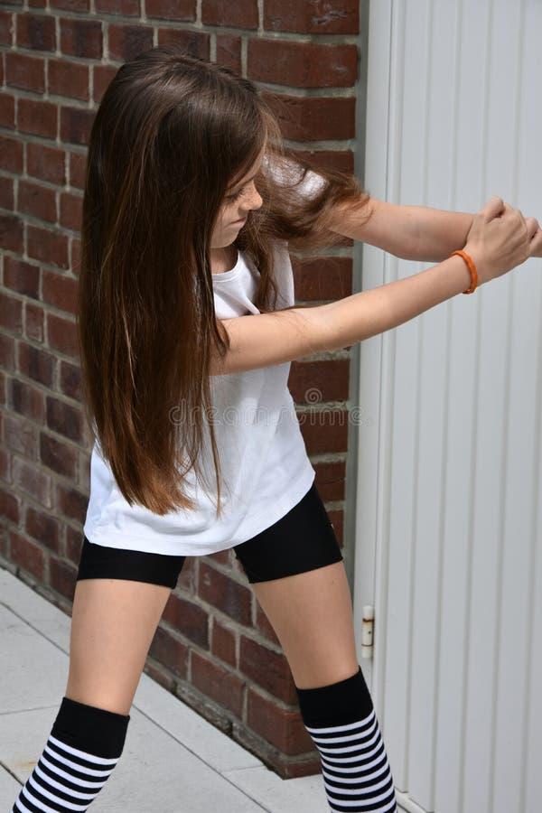 Menina crioula do adolescente foto de stock