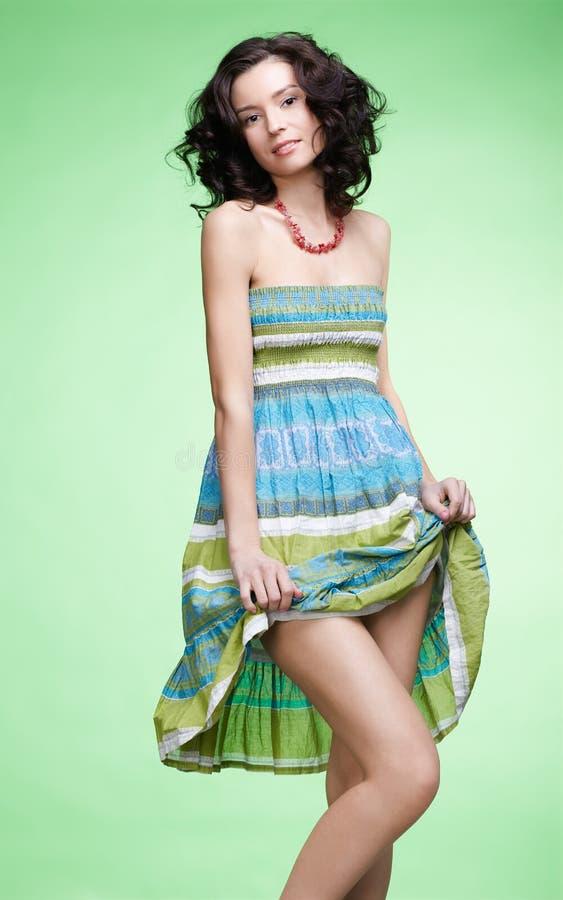 Menina curly bonita fotografia de stock royalty free