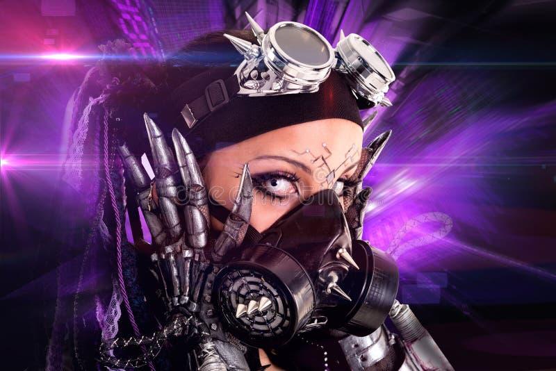 Menina Cyber-gótico imagem de stock royalty free
