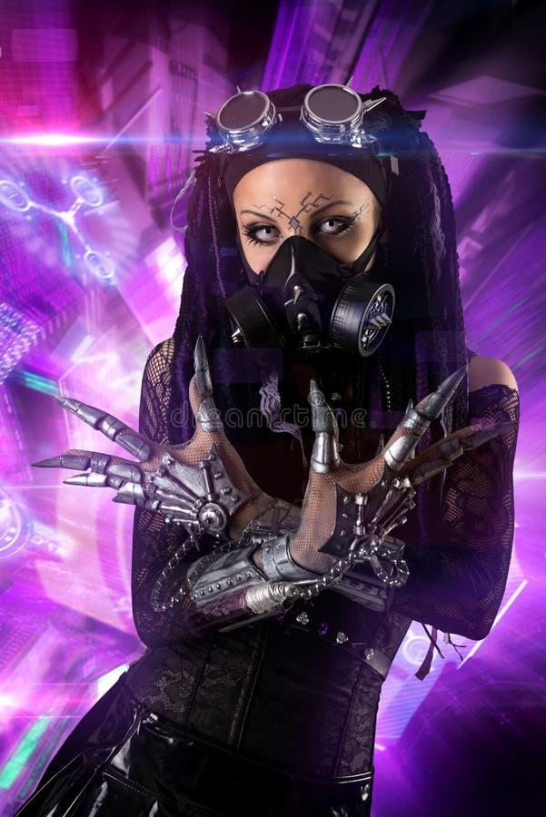 Menina Cyber-gótico imagens de stock