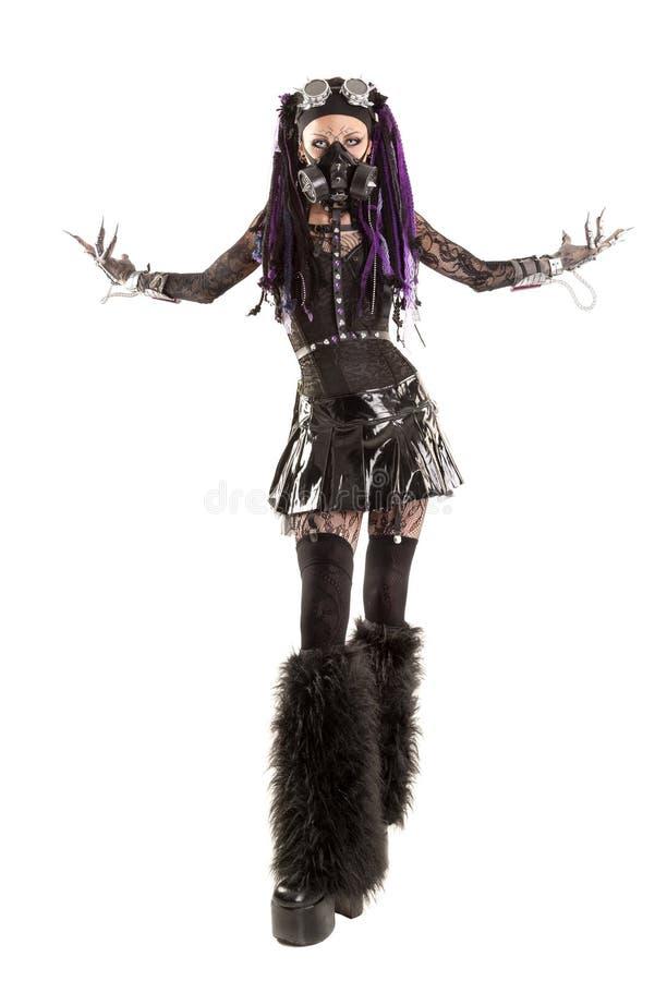 Menina Cyber-gótico fotos de stock royalty free