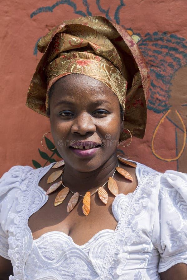 Menina da África Ocidental fotografia de stock