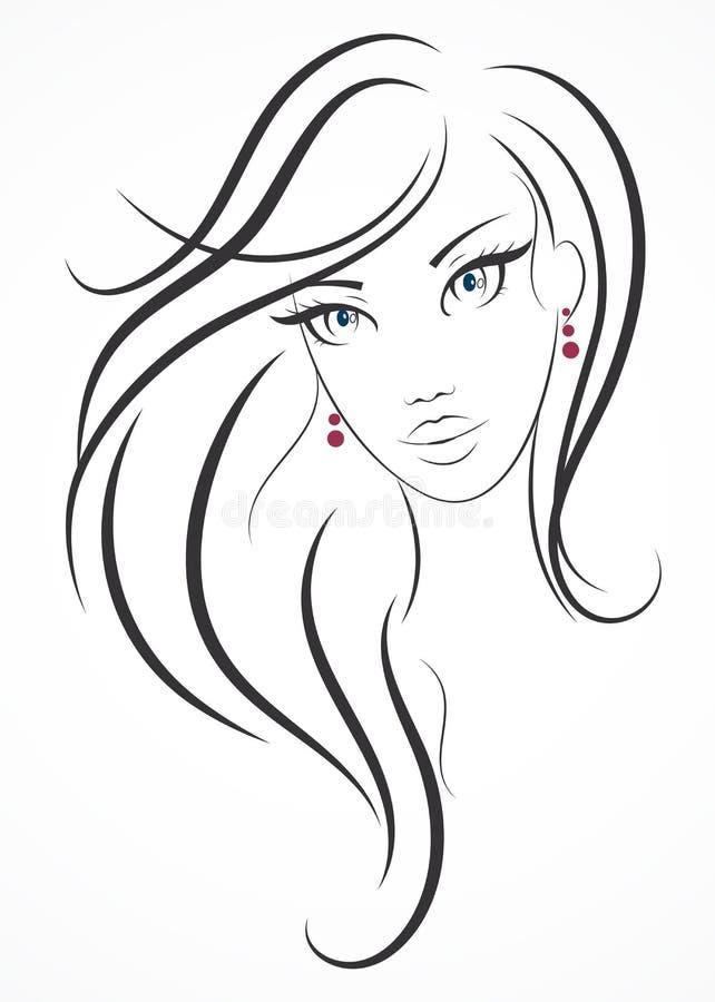 Menina da beleza ilustração royalty free