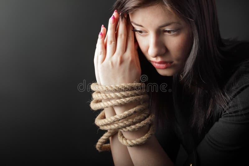 Mãos encadernadas foto de stock