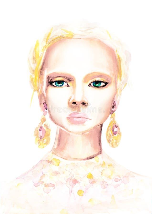 Menina da beleza da forma ilustração do vetor