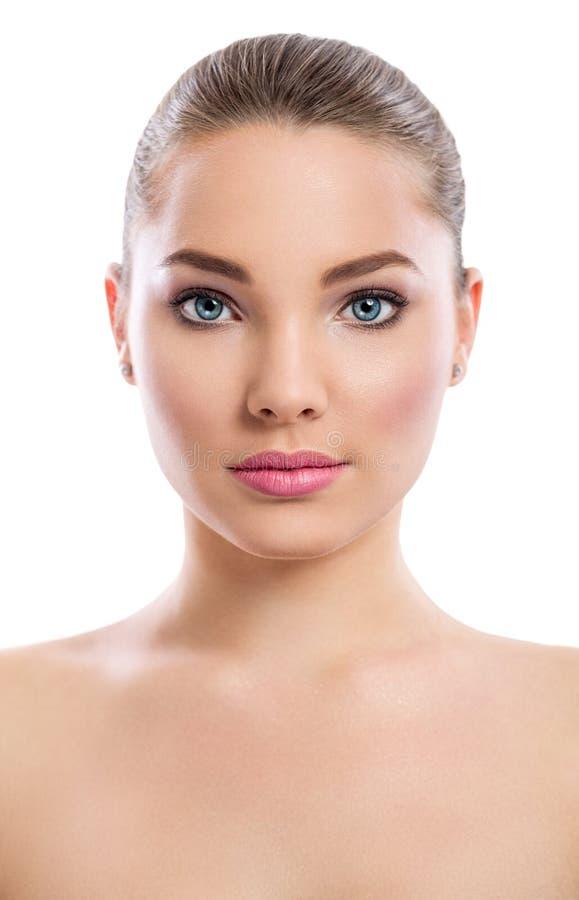 Menina da beleza, retrato da jovem mulher bonita que olha a câmera imagem de stock royalty free