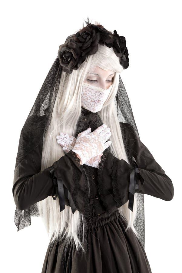 Menina da boneca da viúva imagem de stock royalty free