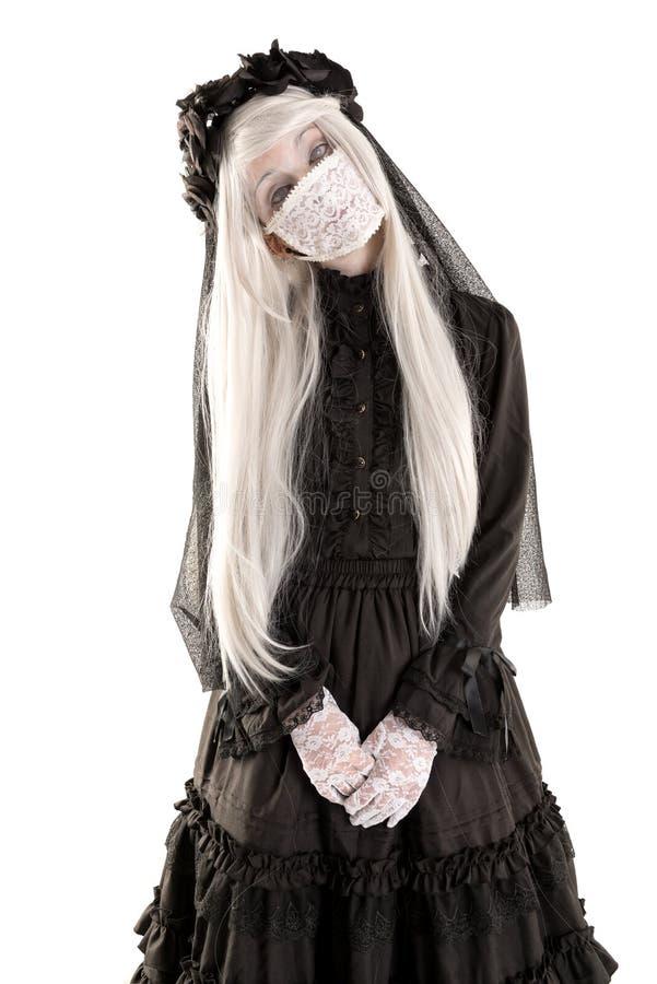 Menina da boneca da viúva imagem de stock