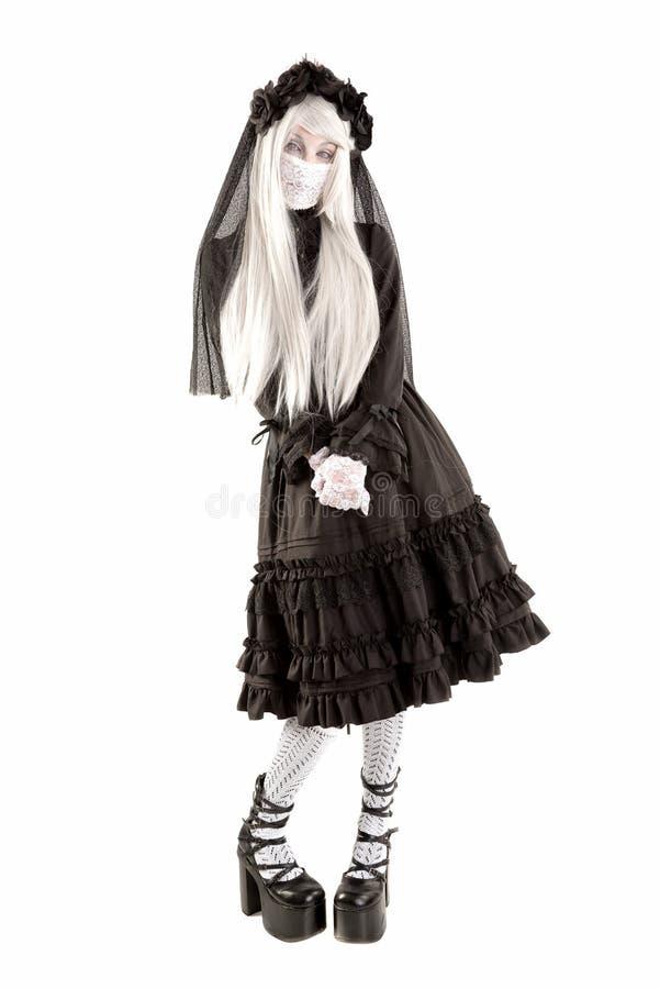 Menina da boneca da viúva imagens de stock
