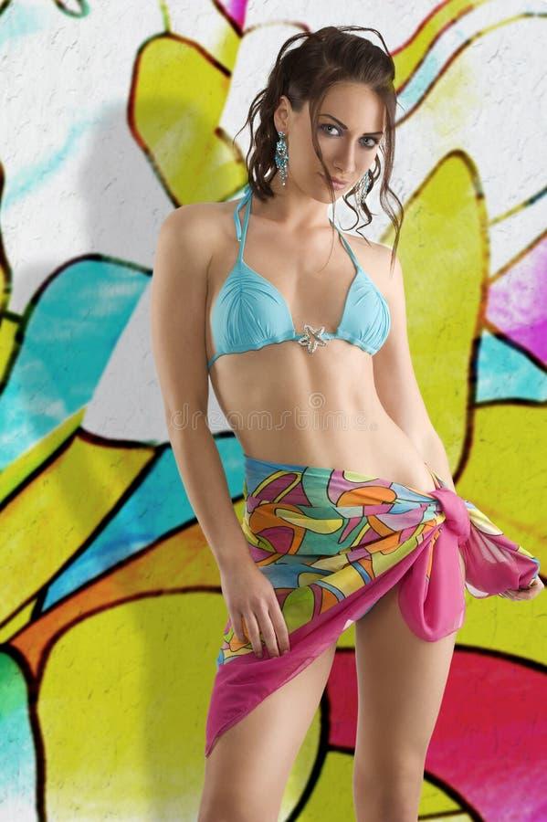 Menina da cor do verão fotografia de stock royalty free